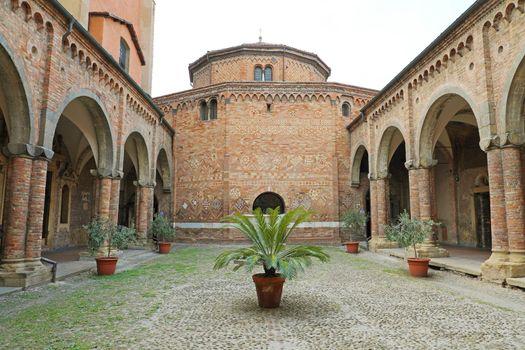 BOLOGNA, ITALY - JULY 22, 2019: Santo Stefano Basilica is a complex of religious edifices in Bologna, Italy