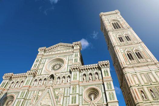 Florence Cathedral Santa Maria del Fiore on sunny day, Tuscany, Italy.