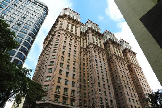 SAO PAULO, BRAZIL - MAY 9, 2019: Martinelli Building in downtown of Sao Paulo, Brazil