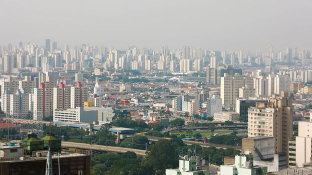 SAO PAULO, BRAZIL - MAY 10, 2019: Metropolis Skyline Sao Paulo, Brazil