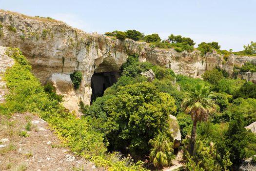 Neapolis Archaeological Park in Syracuse, Sicily Island, Italy