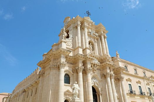 The Cathedral of Syracuse in Siciliy, an UNESCO World Heritage Site in Italy