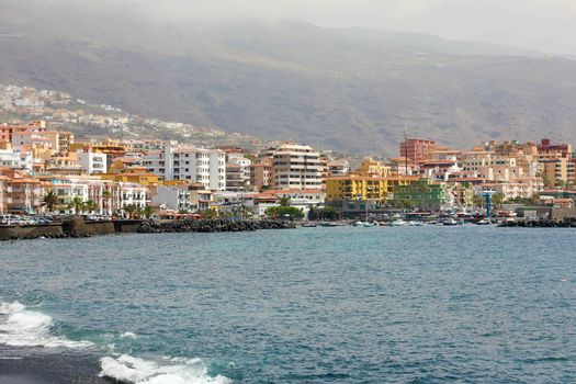 Atlantic ocean shore in Candelaria, Tenerife island, Spain