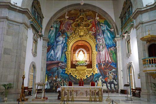 TENERIFE, SPAIN - JUNE 1, 2019: Basilica of Our Lady of Candelaria, indoor view Tenerife, Spain