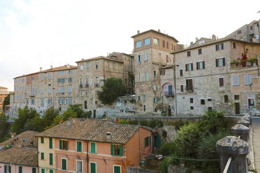 Old medieval houses of Perugia, Umbria, Italy.