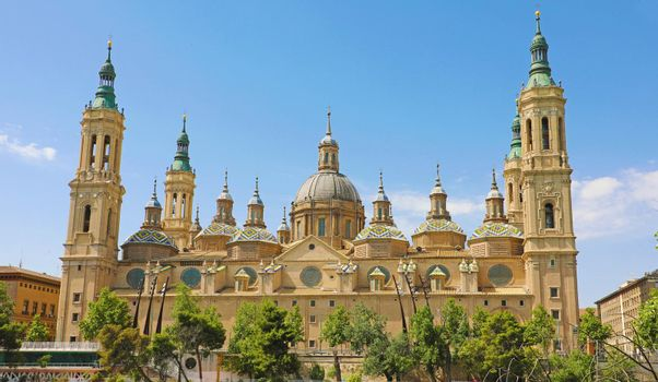 Basilica of Our Lady of the Pillar it is reputed to be the first church dedicated to Mary in history, Zaragoza, Spain