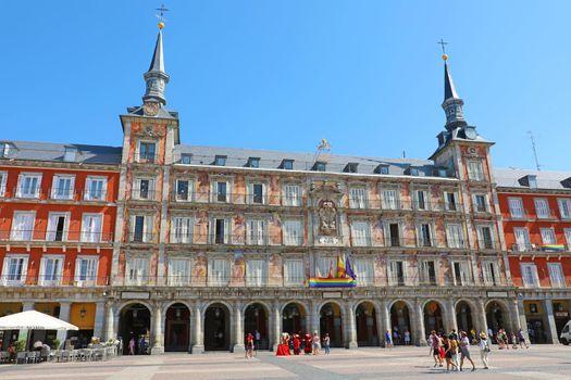 MADRID, SPAIN - JULY 2, 2019: Plaza Mayor square in Madrid, Spain