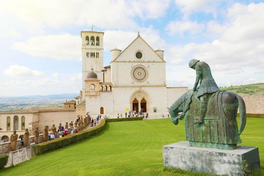 Famous Basilica of Saint Francis of Assisi, Italy.