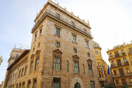 Palau de la Generalitat in Valencia, Spain, is a 15th century gothic palace, currently used as the seat of the regional government, the Generalitat Valenciana.