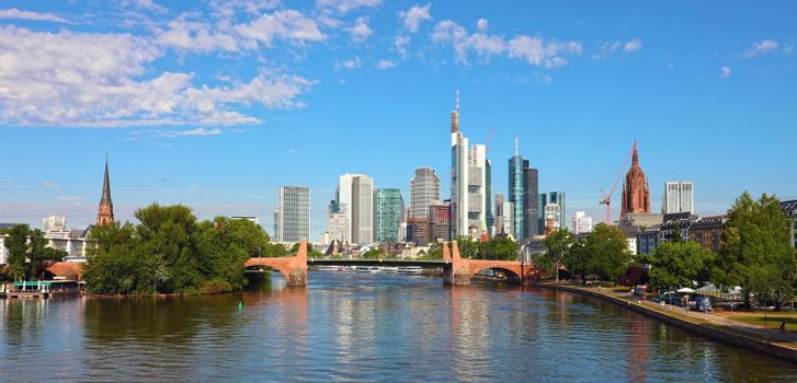 Beautiful view of the skyline of Frankfurt, Germany