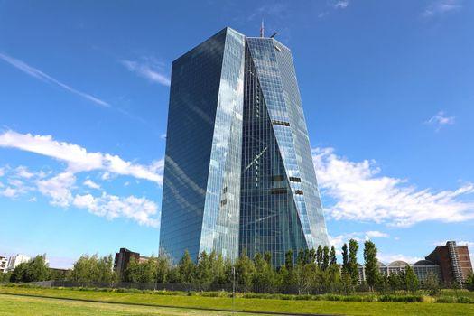 FRANKFURT, GERMANY - JUNE 1, 2019: Seat of the European Central Bank in Frankfurt, Germany