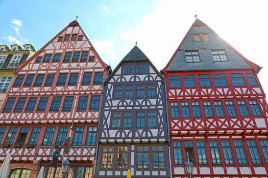 Houses in Romerberg old town square, Frankfurt, Germany