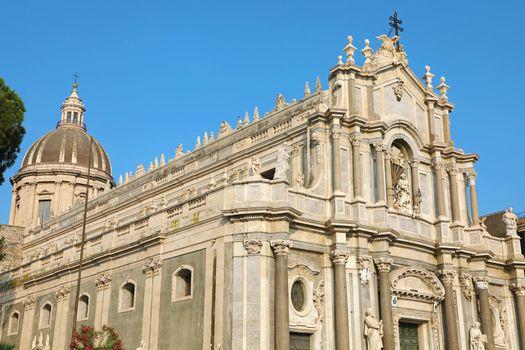 Catania Cathedral in Piazza del Duomo Square in Catania, Sicily, Italy