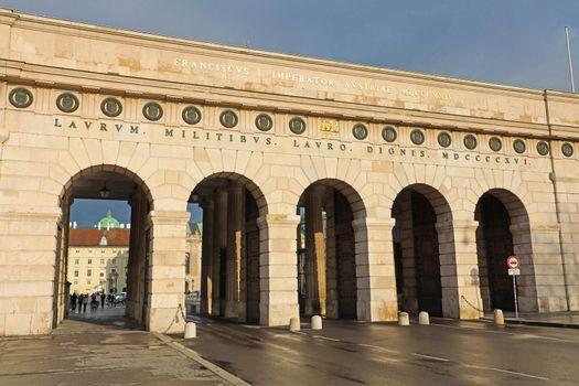 Entrance gate to Hofburg Palace, Vienna, Austria