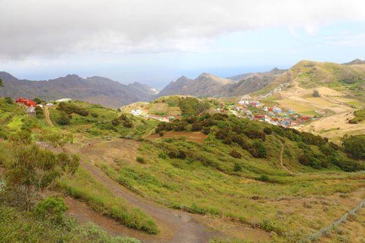 Beautiful sight from the viewpoint Mirador De Jardina, Tenerife, Canary Islands, Spain.