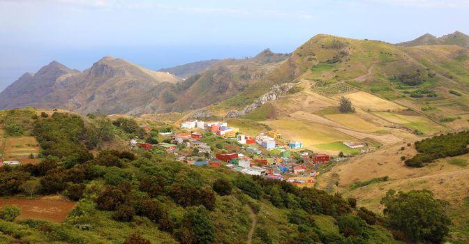 Stunning sight from the viewpoint Mirador De Jardina, Tenerife, Canary Islands, Spain.