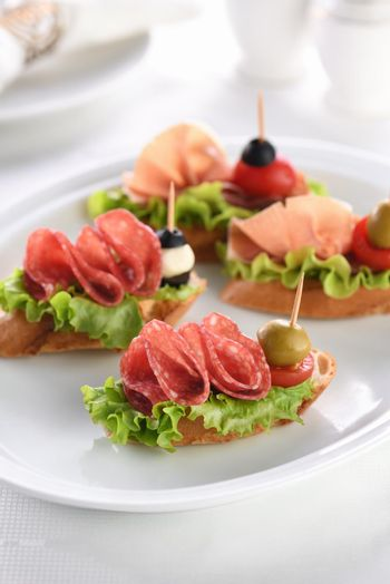 Delicacy assorted platter  for at the party
