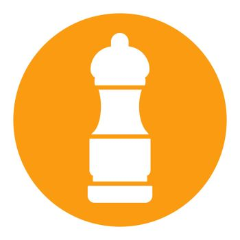 Pepper mill spice grinder vector white glyph icon