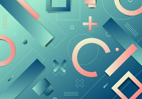 Abstract background geometric gradient shape elements pattern dynamic shape compositions