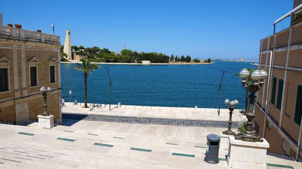 Seafront of Brindisi old town, Apulia, Italy