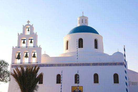 Santorini orthodox church, Oia village, Greece