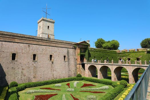 Montjuic Castle in Barcelona, Catalonia, Spain