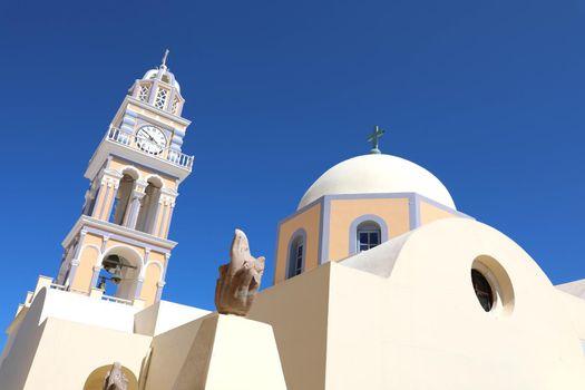 Catholic Church of Saint Stylianos in Thira on Santorini island, Cyclades, Greece