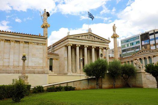 Facade of Athens Academy, Greece