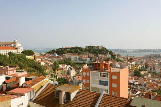 Lisbon beautiful panoramic view, Portugal
