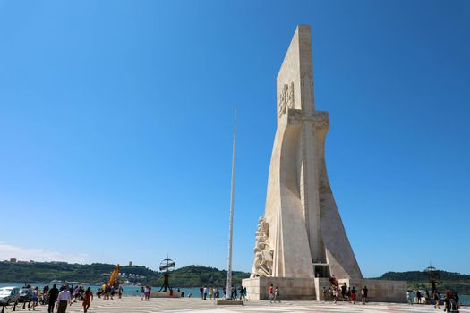 BELEM, PORTUGAL - JUNE 25, 2018: Monument to the Discoveries at Belem, Lisbon, Portugal