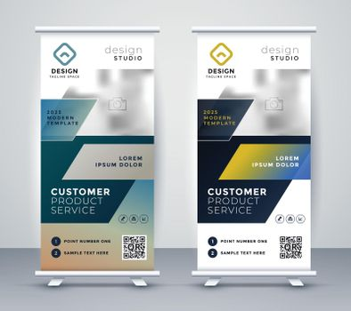 company rollup business banner design