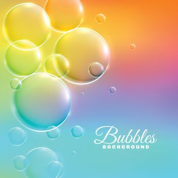 colorful background with shiny bubbles
