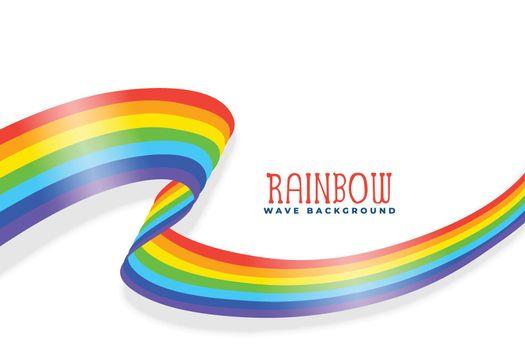 rainbow wavy ribbon or flag background