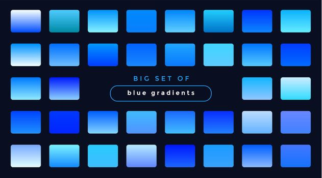 set of smooth blue gradients