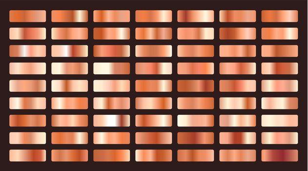 metallic orange or copper gradients big set