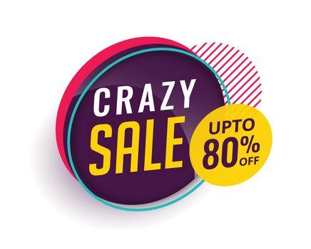 crazy sale modern banner design