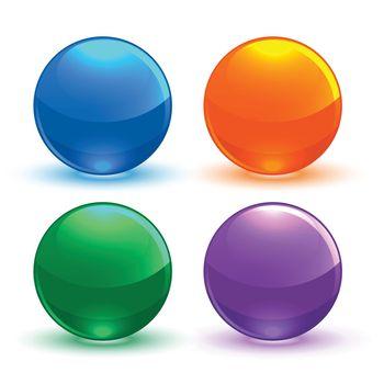 set of circular shiny button