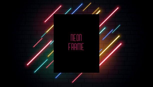 club neon signage banner design