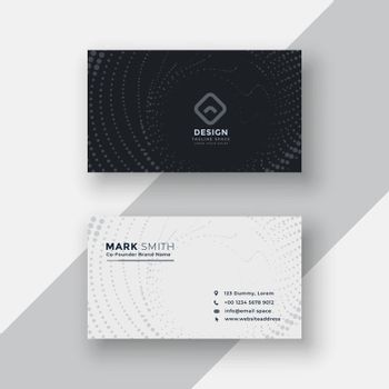 black and white halftone business card design