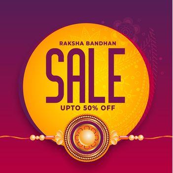 rakhi festival sale background design