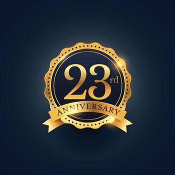 Golden wedding anniversary labels