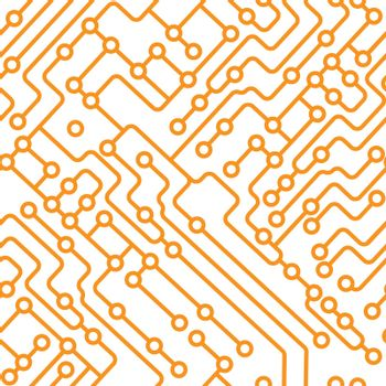 Seamless printed circuit board pattern for texture, textiles, packaging, and simple backgrounds. Flat Style