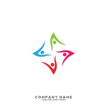 Social relationship logo and icon