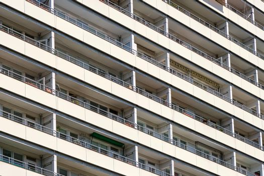 Detail of a subsidized housing building