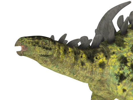 Gigantspinosaurus was an armored herbivorous dinosaur that lived in China during the Jurassic Period.