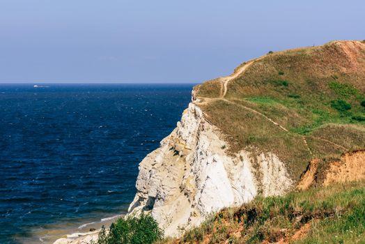 Landscape of a dolomite cliff