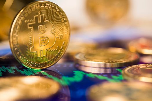 Cryptocurrency, Business, bitcoin coin and Trading concept