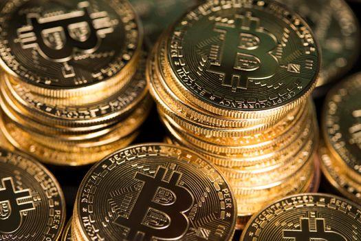 Bitcoin Trading Concept, virtual money