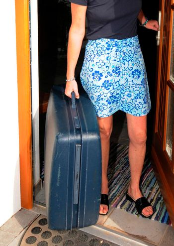suitcase to take luggage when traveling and going on vacation