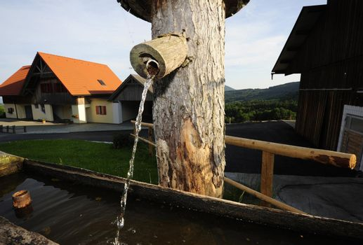 a drinking water well and water supply with fresh water